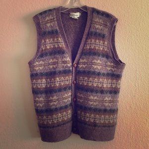 1980s Mens Sweater Vest